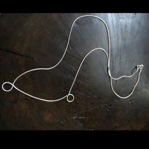 """Jewelry - 24"""" Sterling Silver Snake Chain Necklace"""